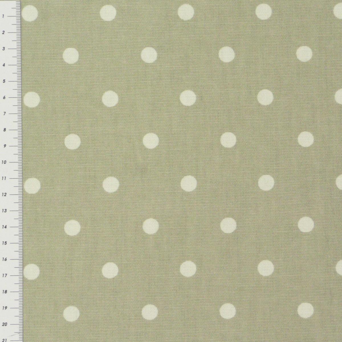 baumwollstoff full stop grau mit wei en punkten gardinenstoff dekostoff stoffe stoffe gemustert. Black Bedroom Furniture Sets. Home Design Ideas