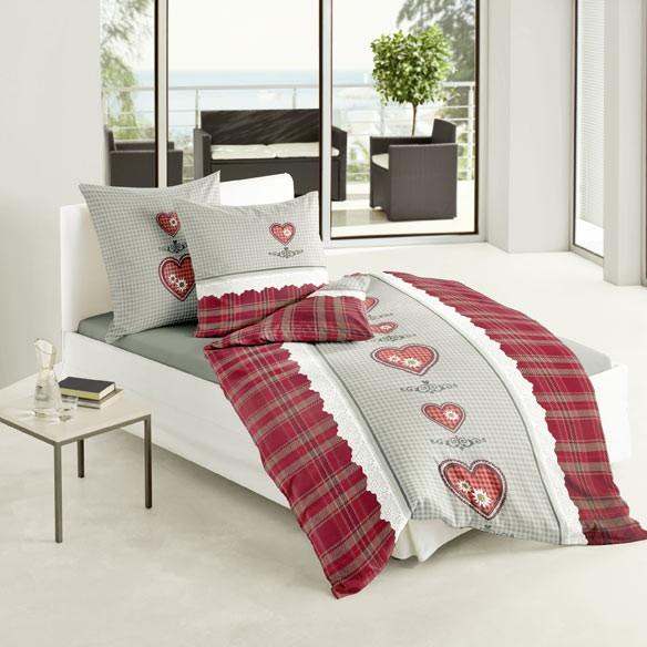 bierbaum bettw sche biber h ttenzauber grau rot 135x200cm ebay. Black Bedroom Furniture Sets. Home Design Ideas