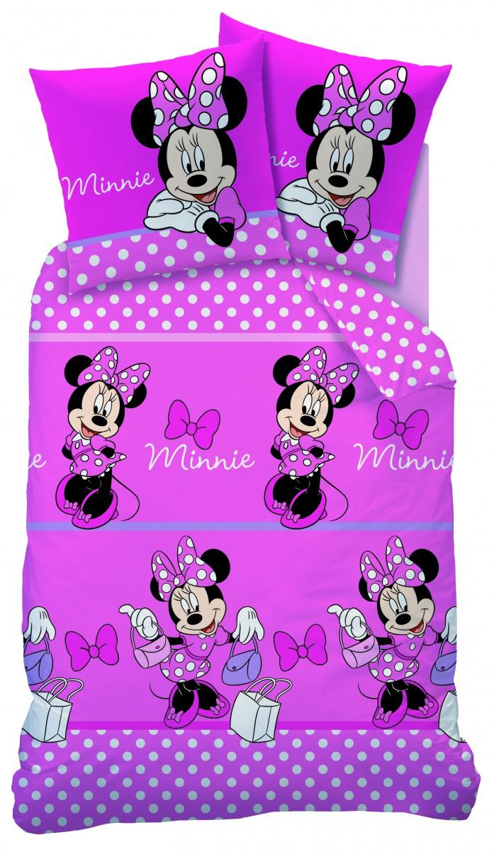 bettw sche minnie mouse microfaser rosa pink 135x200cm. Black Bedroom Furniture Sets. Home Design Ideas