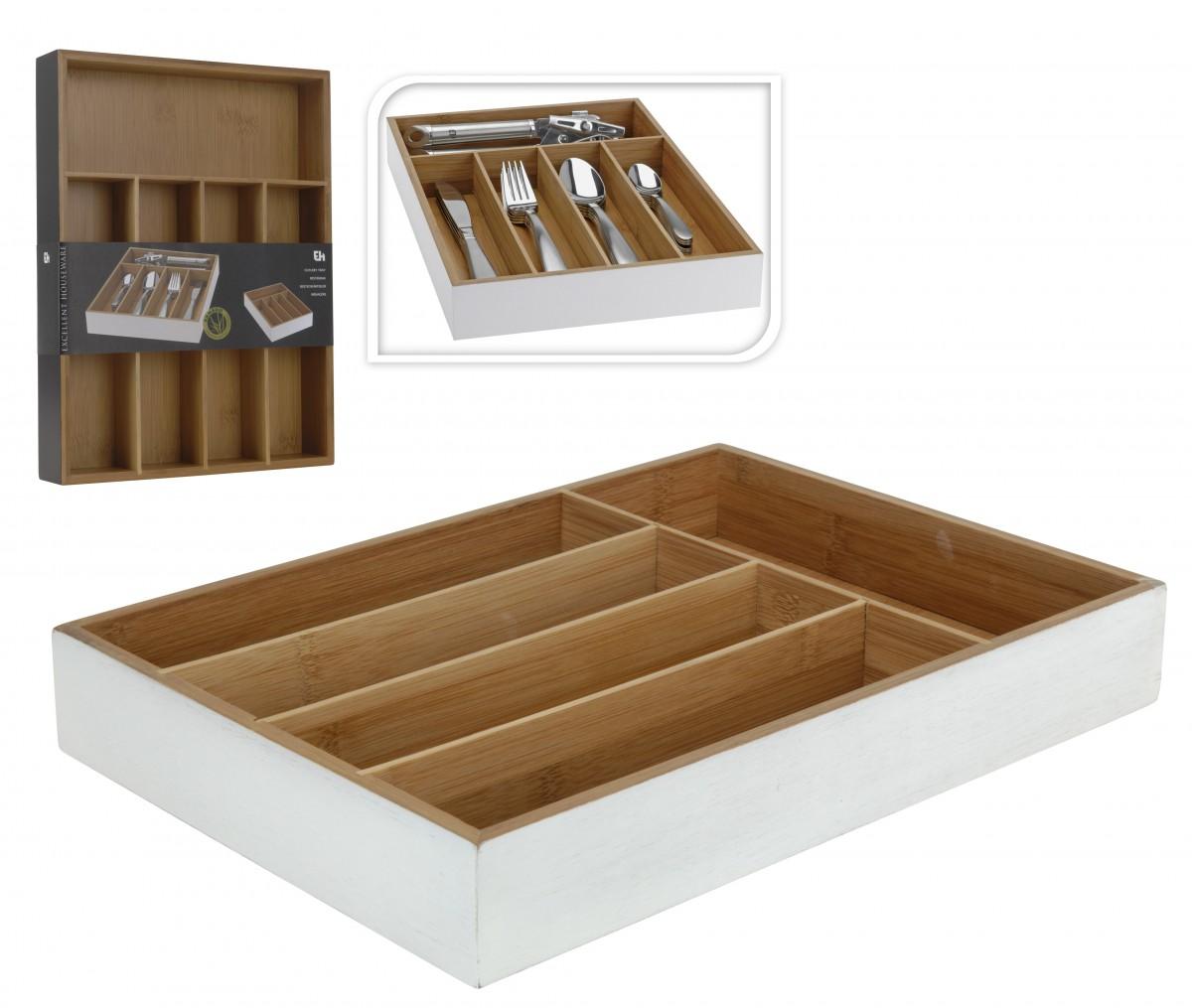 besteckkasten besteckeinsatz bambus 26x35cm ebay. Black Bedroom Furniture Sets. Home Design Ideas