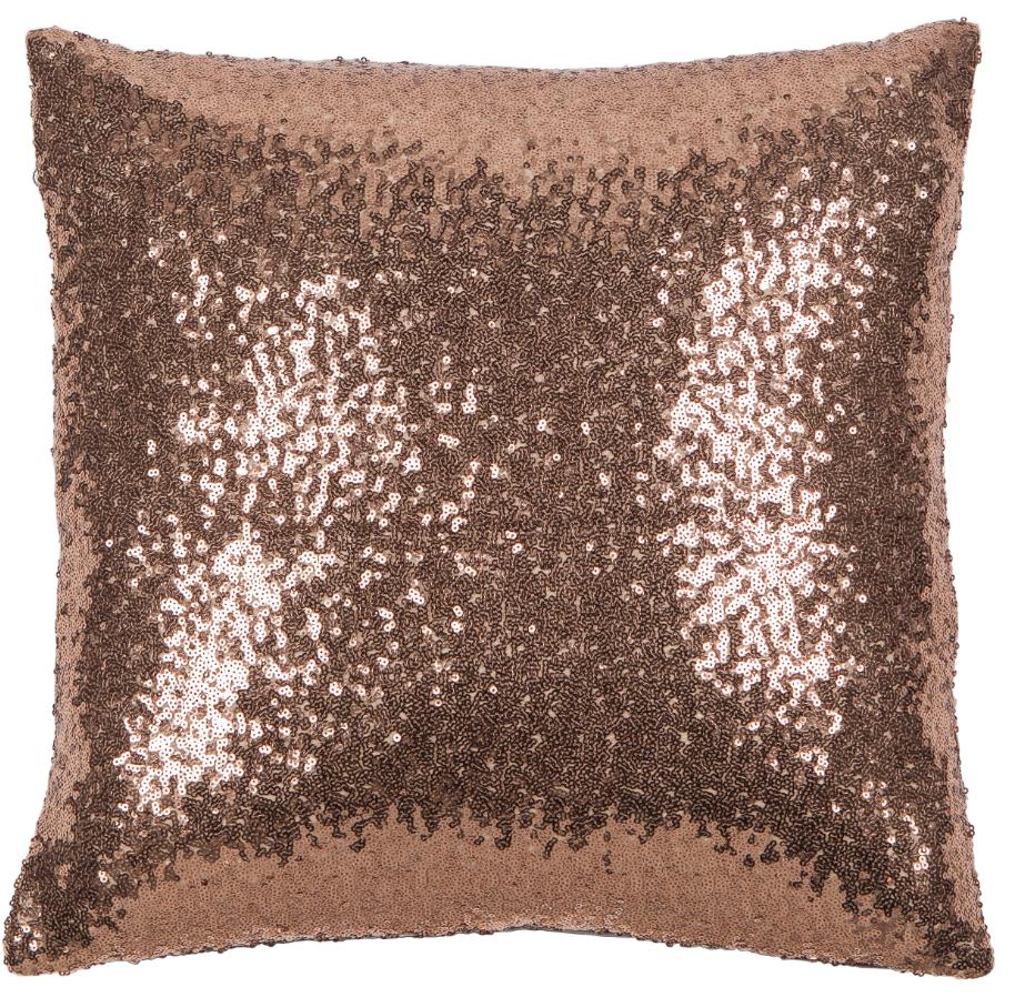 kissen deko whitney pailletten kupfer 45x45cm ebay. Black Bedroom Furniture Sets. Home Design Ideas