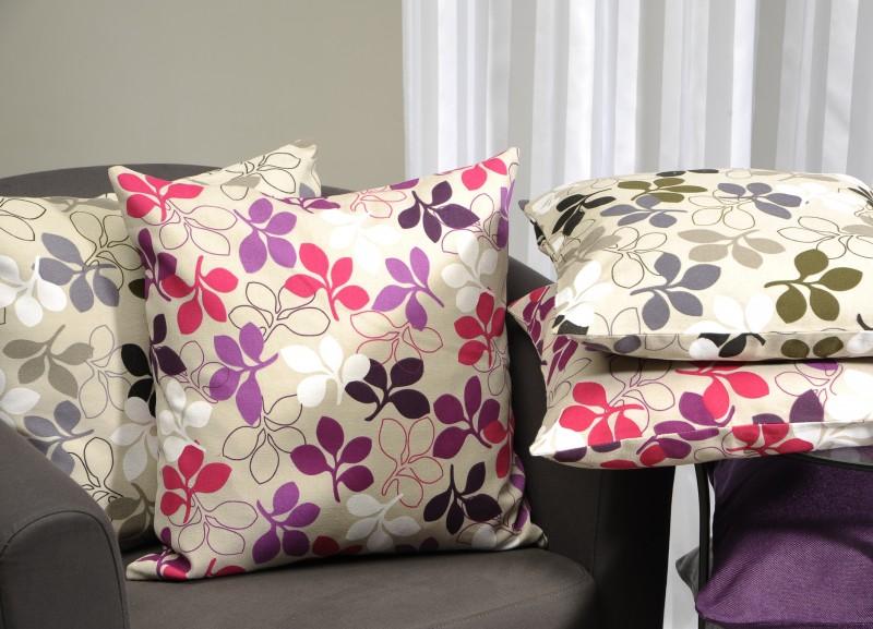 kissenh lle 50x50 blumen aus baumwollstoff wohntextilien kissen flowers. Black Bedroom Furniture Sets. Home Design Ideas