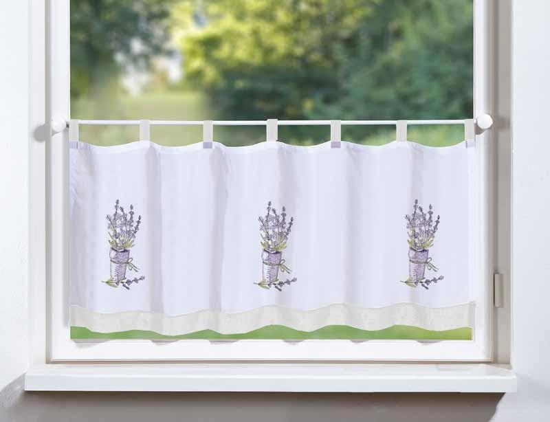bistro scheiben gardine panneau lavendel 120x45cm gardinen fertiggardinen bistrogardine. Black Bedroom Furniture Sets. Home Design Ideas