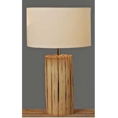 Lampe-Tischlampe-Designlampe-Holzfuss-H49cm