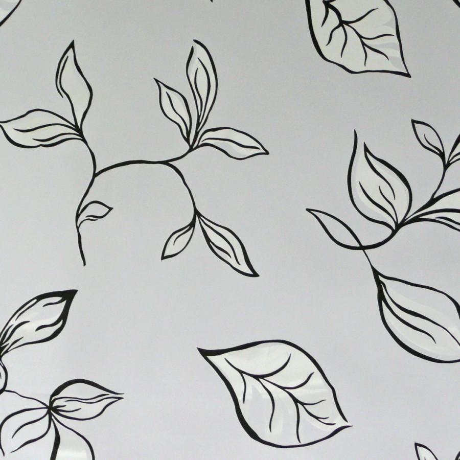 schiebevorhang paneel fl chenpaneel bl tter schwarz wei 60x245cm gardinen fertiggardinen. Black Bedroom Furniture Sets. Home Design Ideas