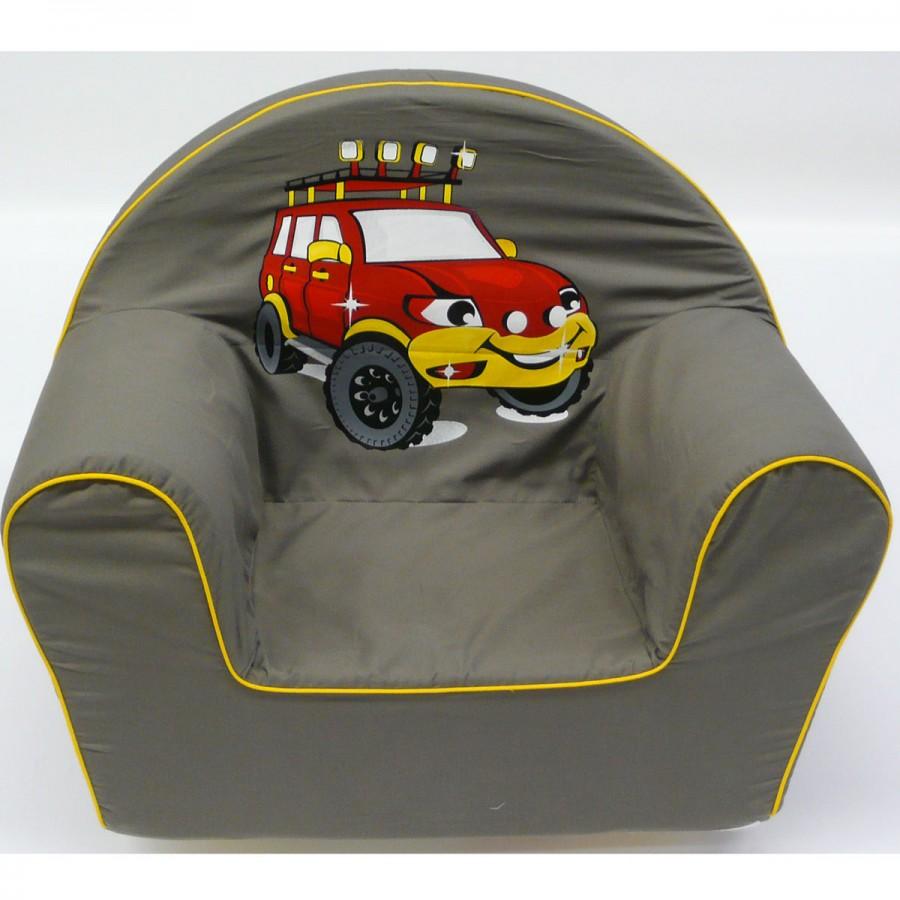as knorr kinder sessel stuhl pl schsessel m bel car auto grau ebay. Black Bedroom Furniture Sets. Home Design Ideas