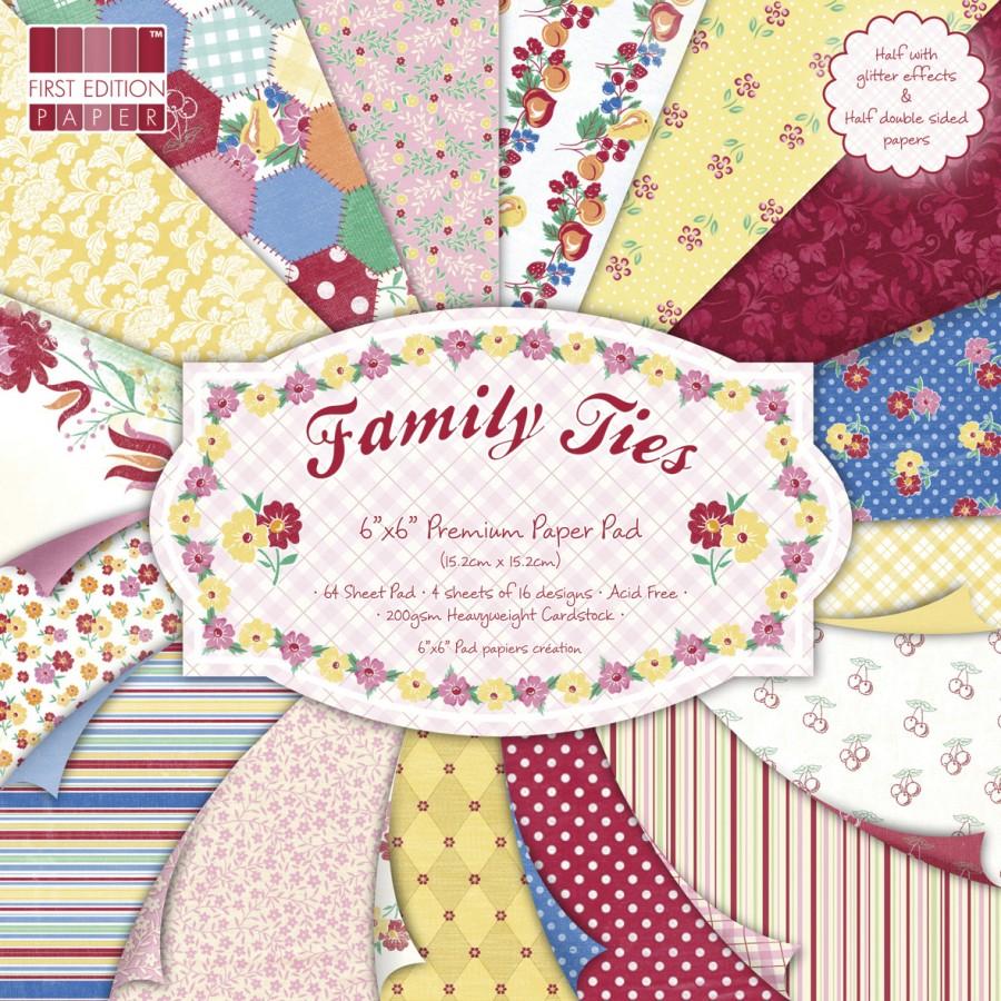 rayher papierset family ties 15 2x15 2cm 64st ck ebay. Black Bedroom Furniture Sets. Home Design Ideas
