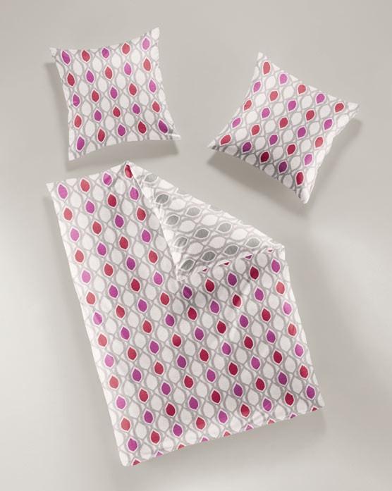 bierbaum bettw sche mako satin 135x200cm knospen rot rosa grau wohntextilien bettw sche. Black Bedroom Furniture Sets. Home Design Ideas