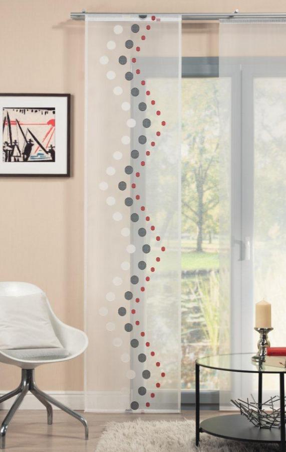 schiebevorhang fl chenvorhang fl chenschal 60x245cm punkte. Black Bedroom Furniture Sets. Home Design Ideas