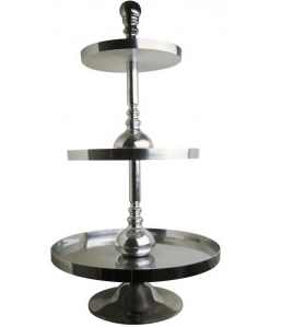 etagere etagerie aluminium 3stufig h 100cm ebay. Black Bedroom Furniture Sets. Home Design Ideas