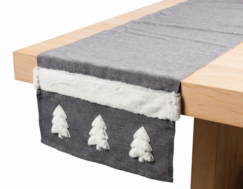 tischl ufer tischdeko weihnachten finn grau 40x220cm ebay. Black Bedroom Furniture Sets. Home Design Ideas
