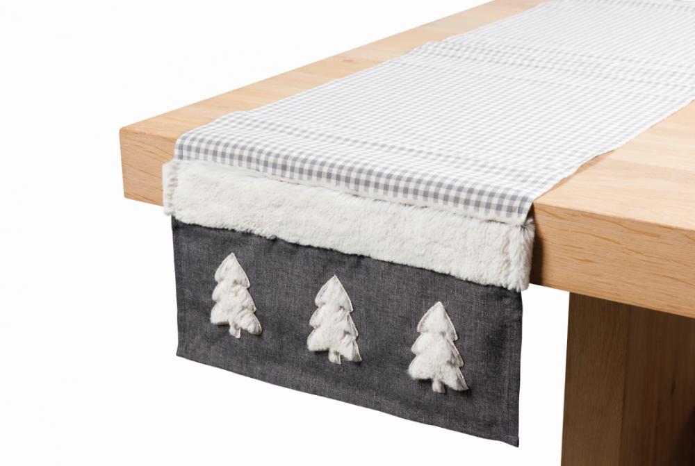 tischl ufer tischband weihnachten finn grau wei 40x150cm. Black Bedroom Furniture Sets. Home Design Ideas