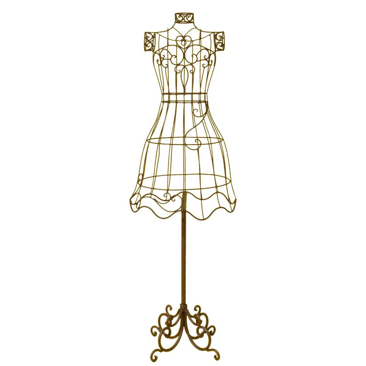clayre eef mannequin schneiderpuppe b ste aus metall h he 1 3m. Black Bedroom Furniture Sets. Home Design Ideas