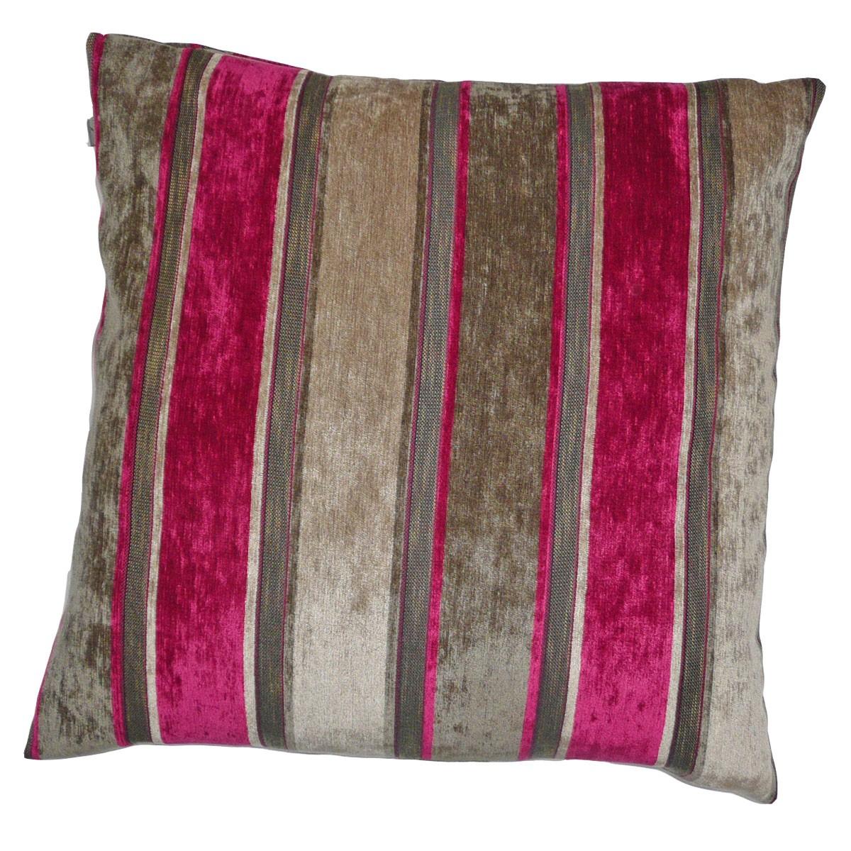 kissen kissenh lle streifen braun pink 70x70cm ebay. Black Bedroom Furniture Sets. Home Design Ideas