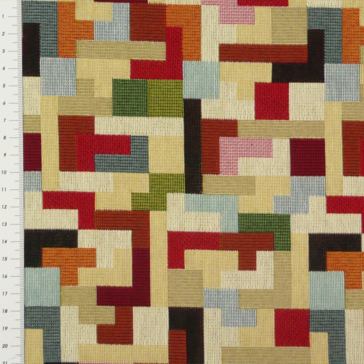 gobelinstoff stoff dekostoff karo tetris stoffe wohnstoffe. Black Bedroom Furniture Sets. Home Design Ideas