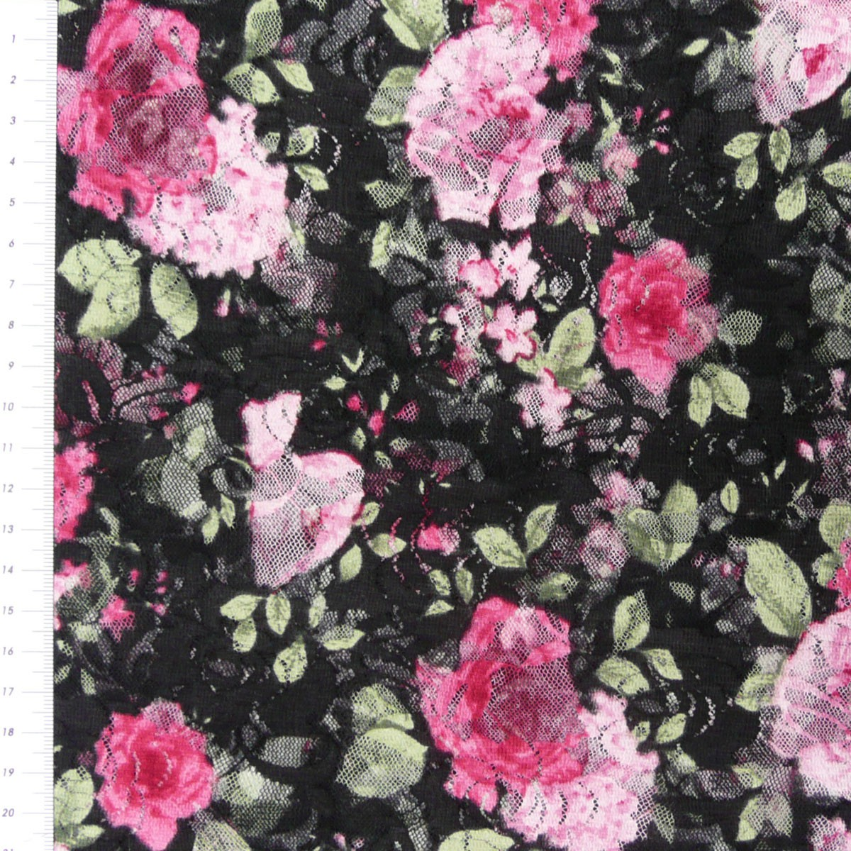 9 96 1qm bekleidungsstoff stoff t ll spitze mesh rose rosen schwarz. Black Bedroom Furniture Sets. Home Design Ideas