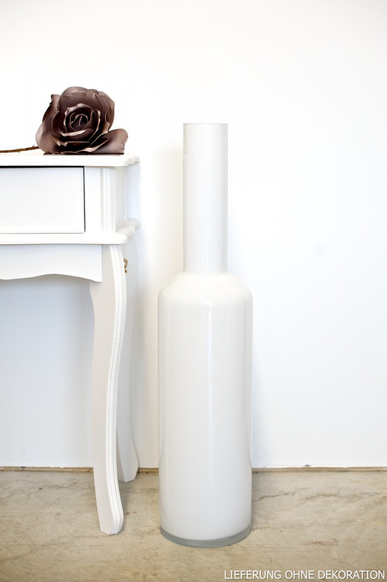 vase dekovase bodenvase gro wei h 75cm ebay. Black Bedroom Furniture Sets. Home Design Ideas