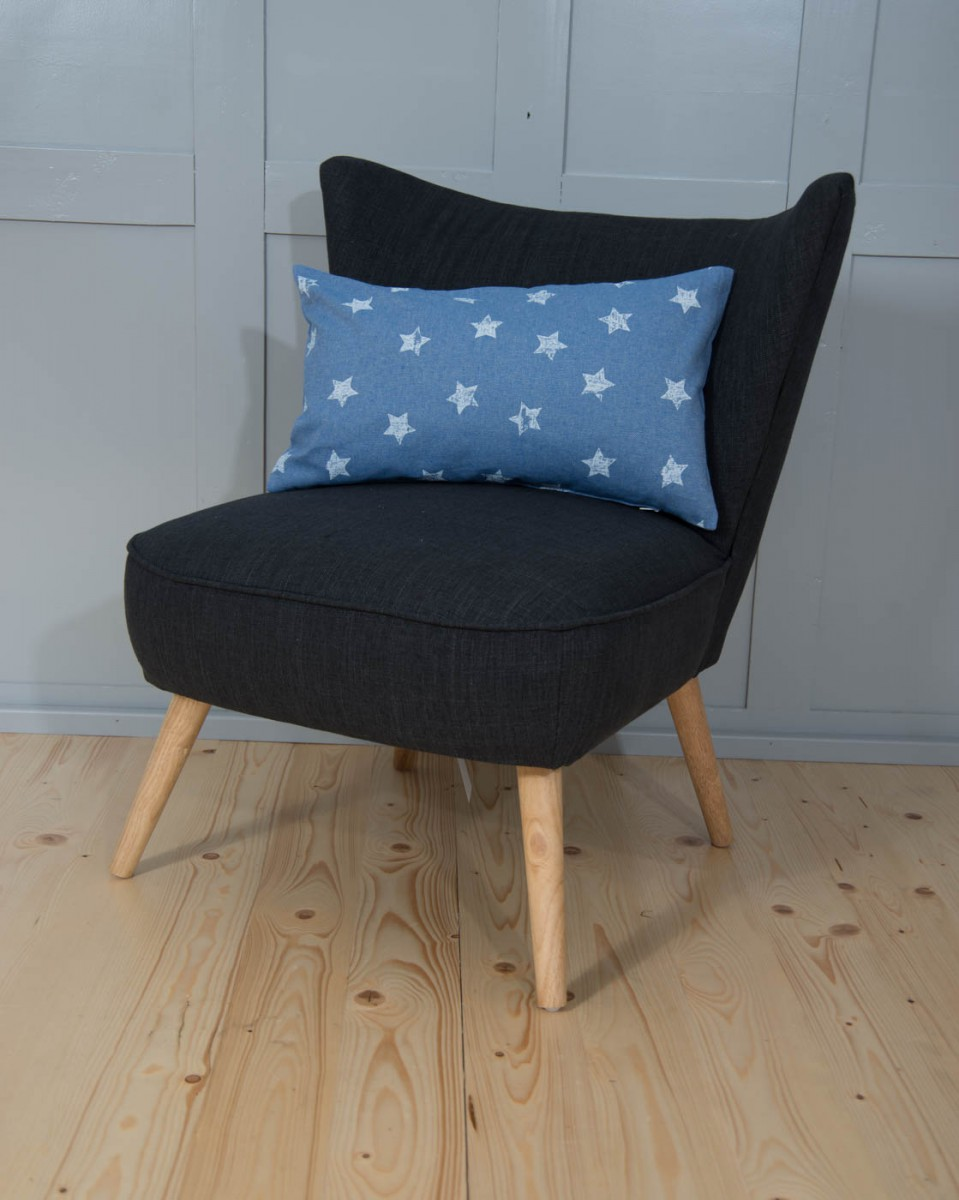 kissen kissenh lle blau mit wei en sternen vintage 30x50cm. Black Bedroom Furniture Sets. Home Design Ideas