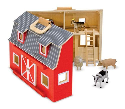 spielzeug bauernhof zum mitnehmen aus holz 34x26cm ebay. Black Bedroom Furniture Sets. Home Design Ideas