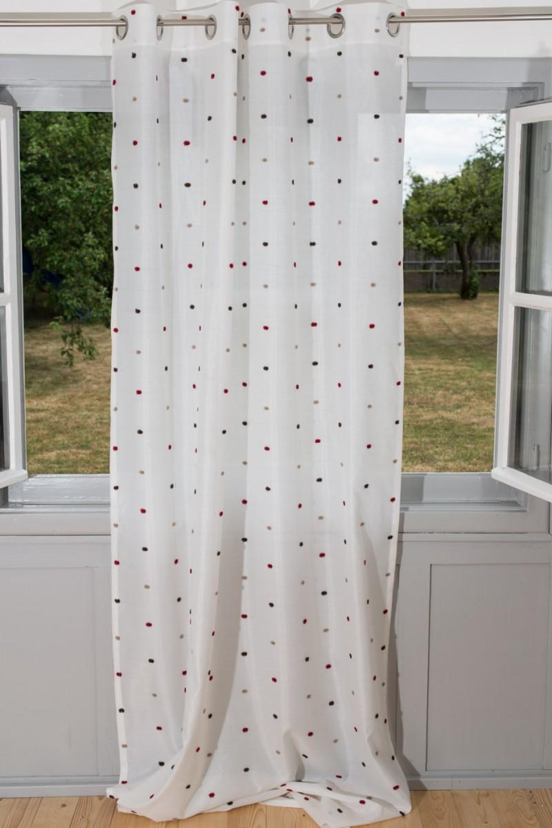 esprit fertigschal dekoschal senschal dots punkte 140x250cm gardinen fertiggardinen senschals. Black Bedroom Furniture Sets. Home Design Ideas
