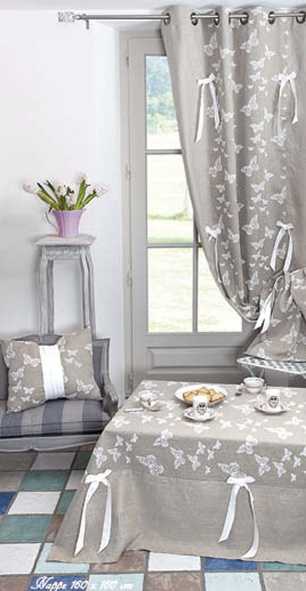 fertiggardine senvorhang senschal leinen schmetterling 135x280cm gardinen fertiggardinen. Black Bedroom Furniture Sets. Home Design Ideas
