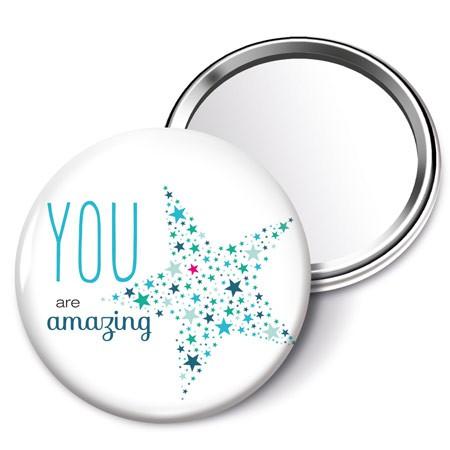 Taschenspiegel you are amazing d 5 5cm geschenkideen for Spiegel you look amazing