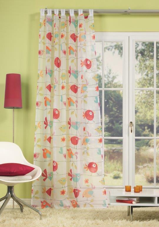 schlaufenschal dekoschal fertiggardine 140x245cm v gel bunt gardinen fertiggardinen schlaufenschals. Black Bedroom Furniture Sets. Home Design Ideas