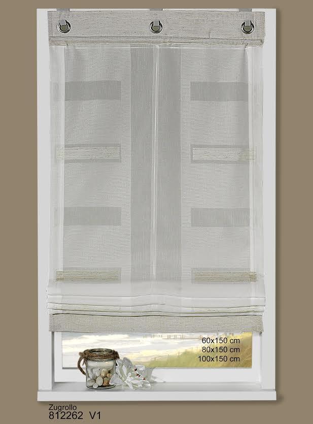 raffrollo zugrollo stoffrollo stickerei rechtecke wei 100x150cm ebay. Black Bedroom Furniture Sets. Home Design Ideas