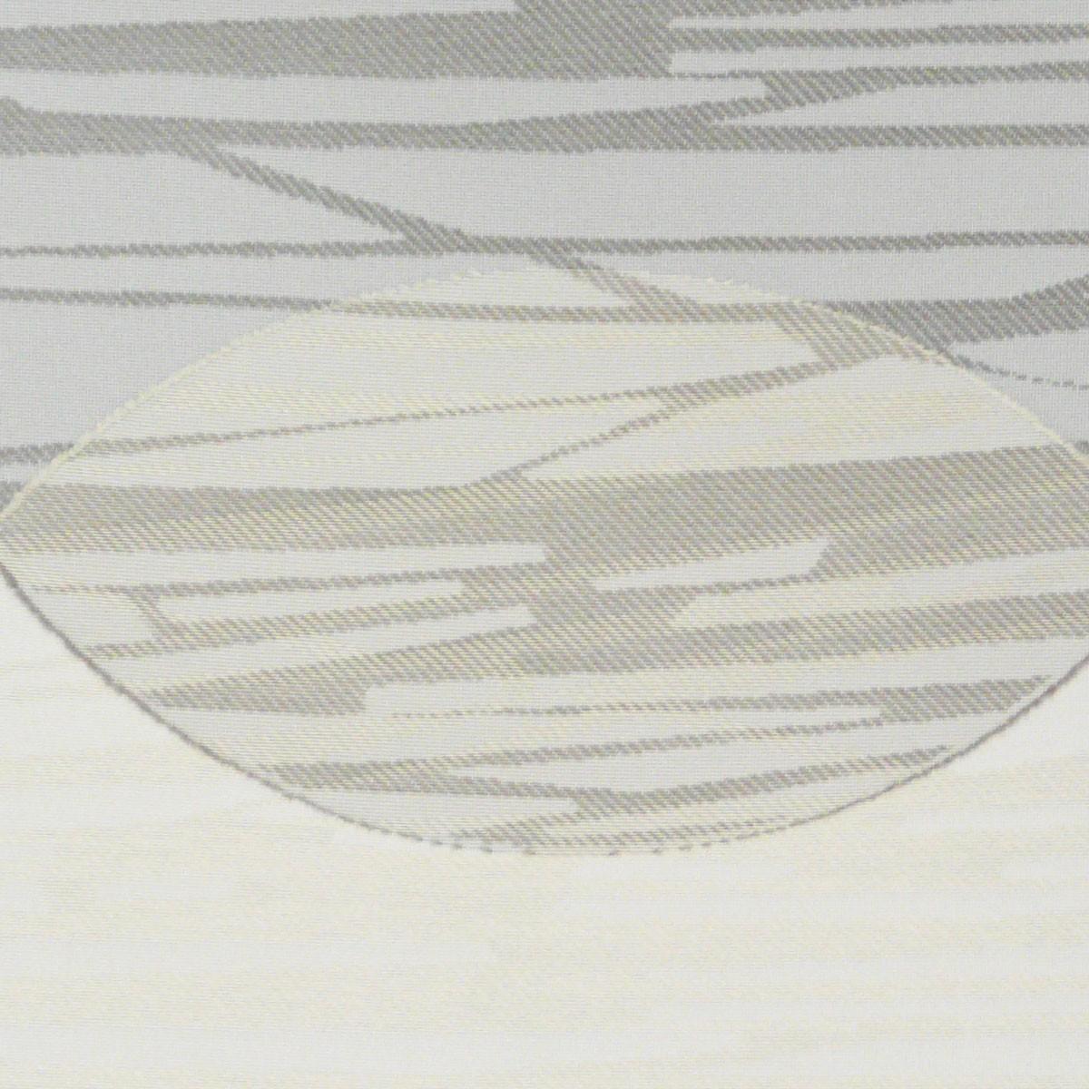Voile stoff gardine paneele meterware kreise mit innenmuster braun creme 60cm breite stoffe - Gardine kreise ...