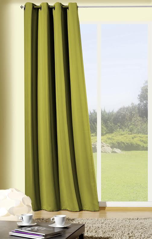 fertiggardine fertigvorhang senschal verdunkelung gr n 135x245cm gardinen fertiggardinen senschals. Black Bedroom Furniture Sets. Home Design Ideas