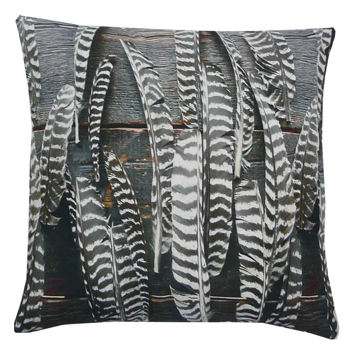 kissen dekokissen feathers 5 federn 45x45cm wohntextilien kissen landhaus. Black Bedroom Furniture Sets. Home Design Ideas