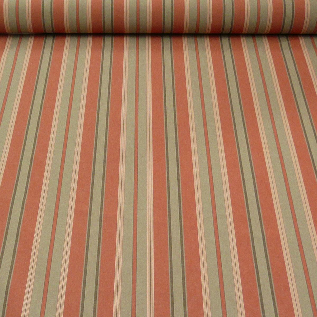 outdoor markisenstoff gartenm belstoff auflagenstoff toldo streifen terrakotta sand stoffe. Black Bedroom Furniture Sets. Home Design Ideas