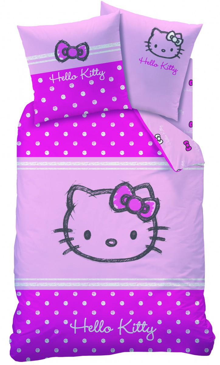 bettw sche baumwolle hello kitty lola flanell 135x200cm gardinen wohntextilien bettw sche. Black Bedroom Furniture Sets. Home Design Ideas