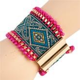 clayre eef armband stoff orientalisch mit schnalle 7cm mode clayre eef. Black Bedroom Furniture Sets. Home Design Ideas