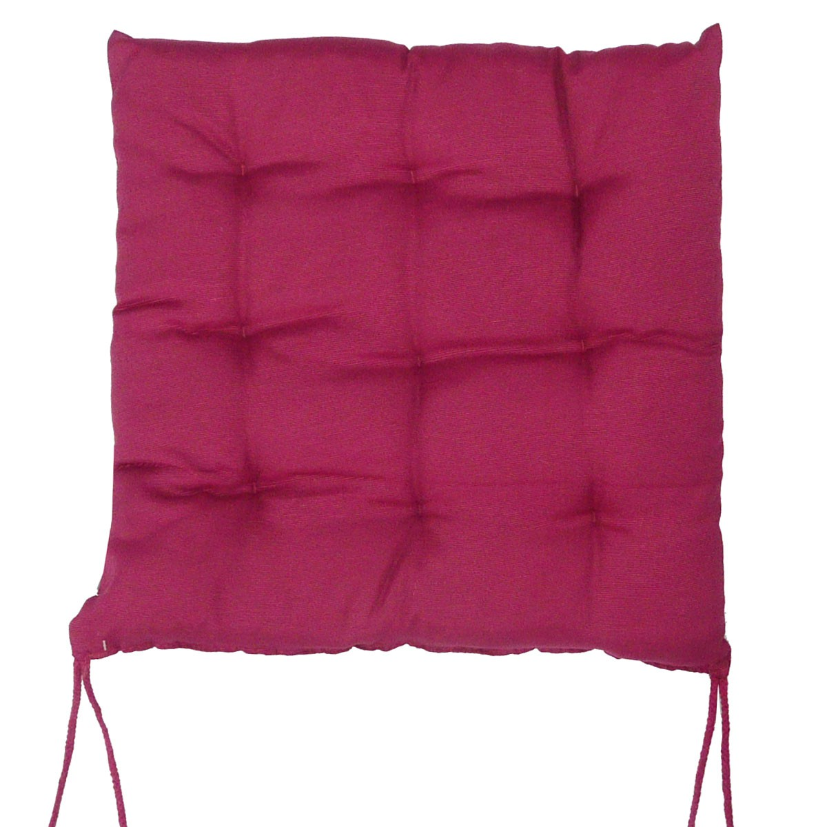 stuhlkissen rib optik mit 4 kordelb ndern 40x40x4cm kirschrot wohntextilien kissen stuhlkissen. Black Bedroom Furniture Sets. Home Design Ideas