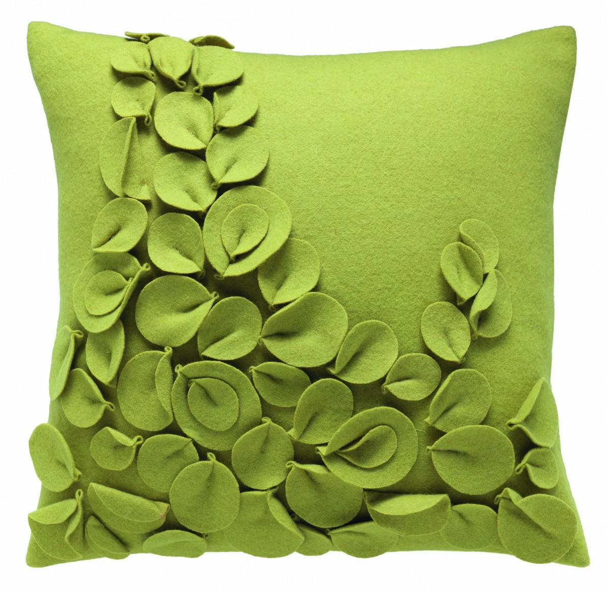 sch ner wohnen kissenh lle fleur gr n 45x45cm. Black Bedroom Furniture Sets. Home Design Ideas