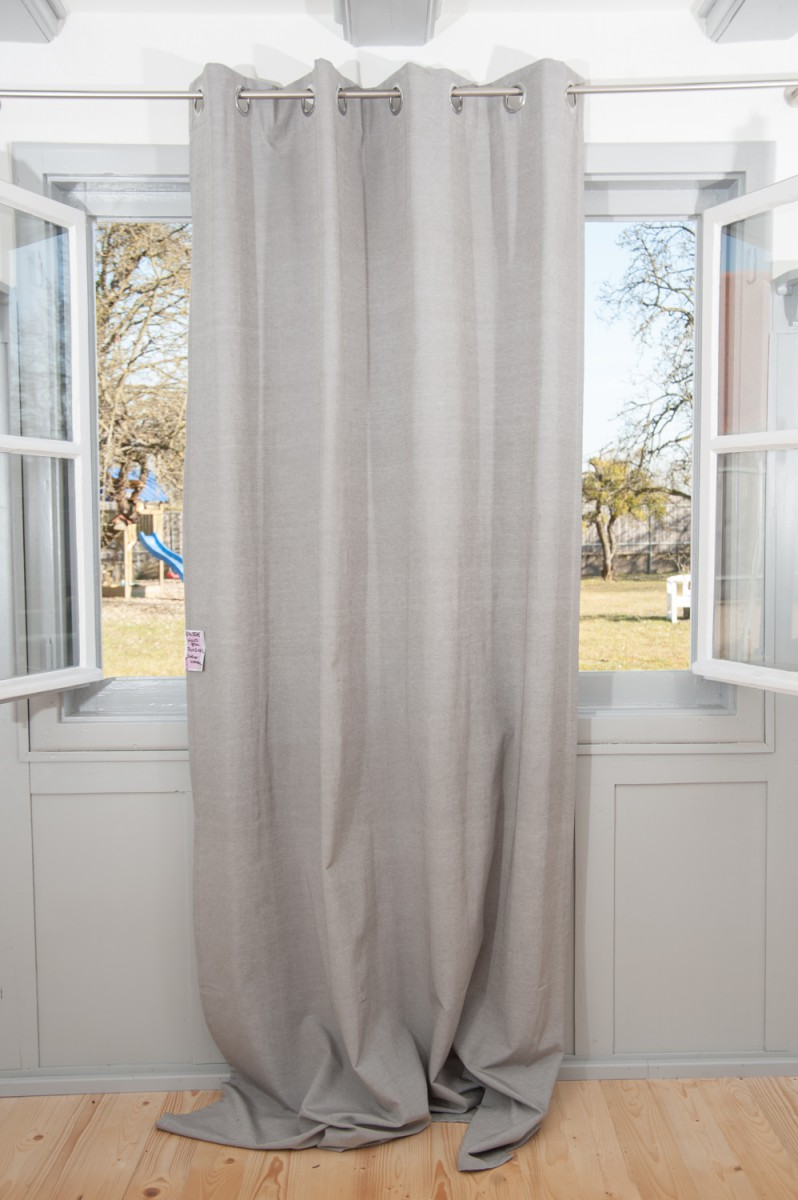 sch ner wohnen fertigschal dekoschal senschal mono grau. Black Bedroom Furniture Sets. Home Design Ideas
