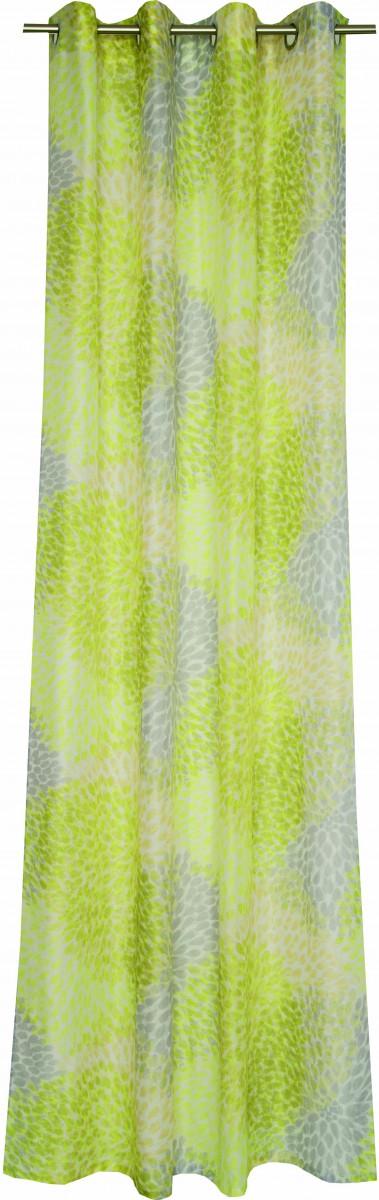 sch ner wohnen fertigschal dekoschal senschal soleils gr n gelb wei 140x250cm gardinen. Black Bedroom Furniture Sets. Home Design Ideas