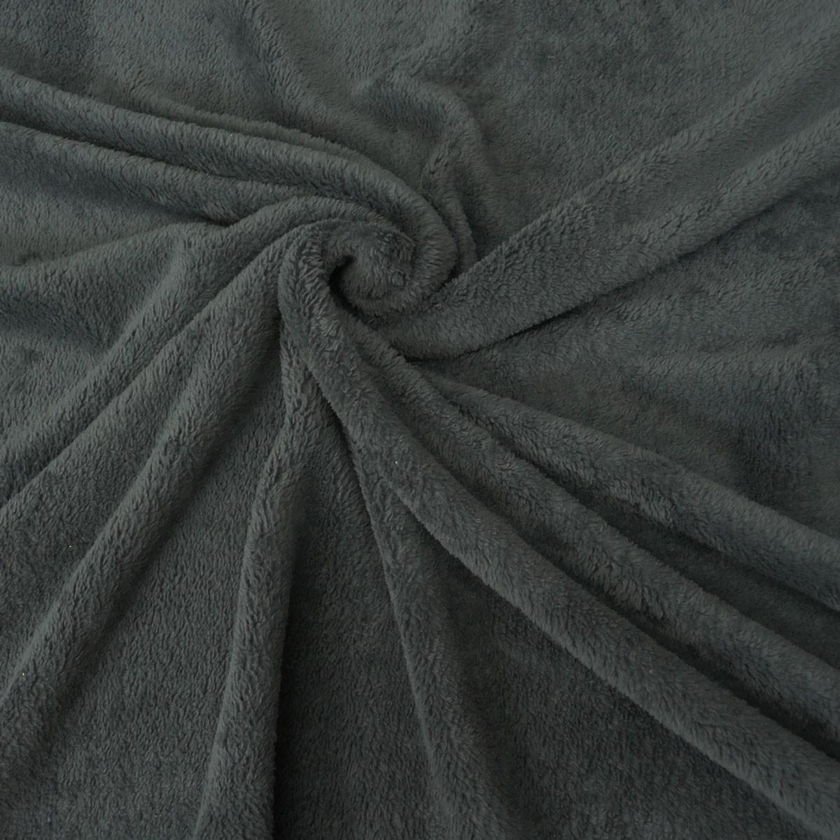 wellness fleece stoff meterware dunkelgrau stoffe stoffe uni. Black Bedroom Furniture Sets. Home Design Ideas