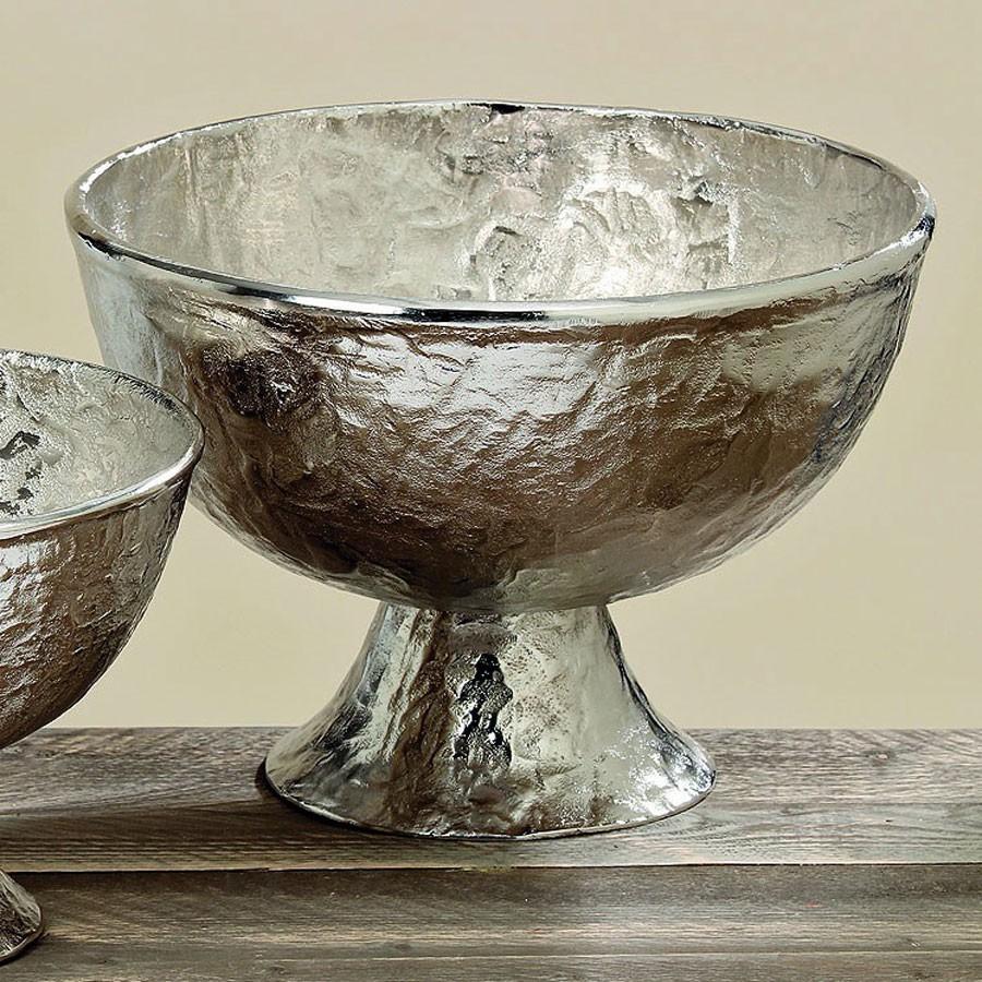Deko schale lil aluminium silber rund 21x29cm wohnen for Wohnaccessoires deko
