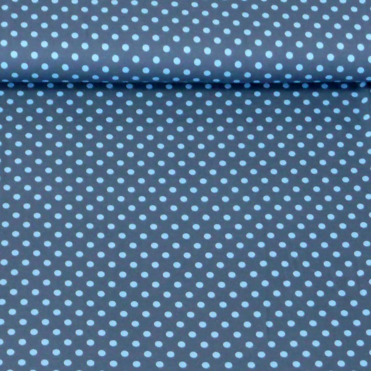 jersey stoff punkte dunkelblau jeans blau stoffe stoffe gemustert stoff punkte. Black Bedroom Furniture Sets. Home Design Ideas