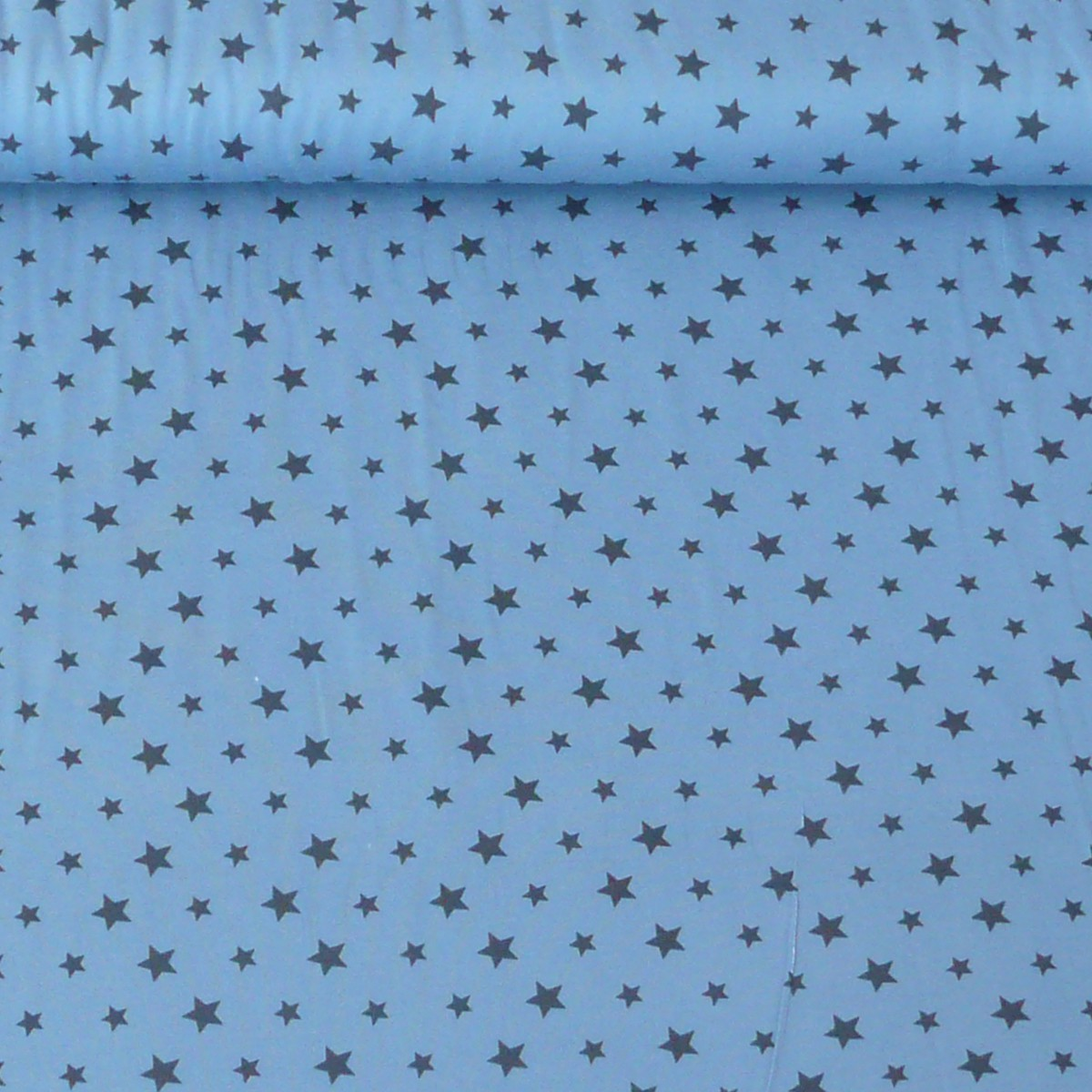 jersey stoff sterne blau dunkelblau stoffe stoffe gemustert stoff sterne. Black Bedroom Furniture Sets. Home Design Ideas