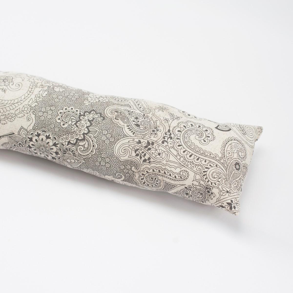 zugluftstopper mit paisleymuster 80 bis 130cm lang wohntextilien kissen zugluftstopper. Black Bedroom Furniture Sets. Home Design Ideas