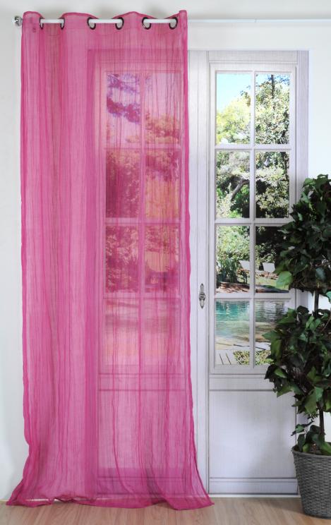Fertiggardine sengardine crash pink 135x240cm gardinen - Pinke gardinen ...