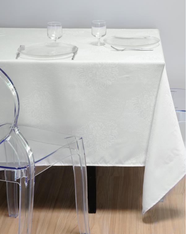 tischdecke ornament creme 140x240cm wohntextilien tischw sche tischdecken. Black Bedroom Furniture Sets. Home Design Ideas