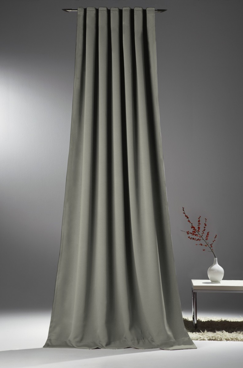 verdunkelungsvorhang mit universalband sopran grau 175x140cm gardinen fertiggardinen schals mit band. Black Bedroom Furniture Sets. Home Design Ideas