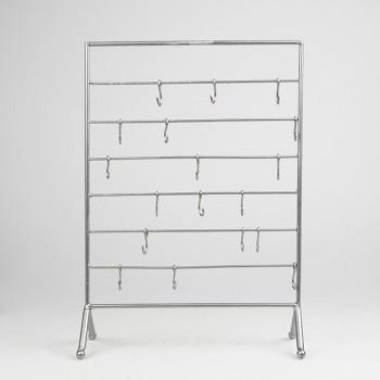 schmuck st nder metall silber farbig mit haken 35x35cm. Black Bedroom Furniture Sets. Home Design Ideas