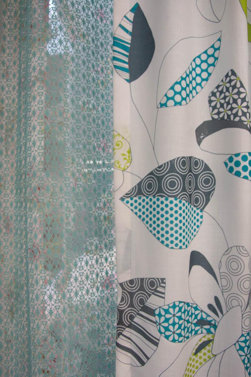 Dekofenster Vorhänge mint