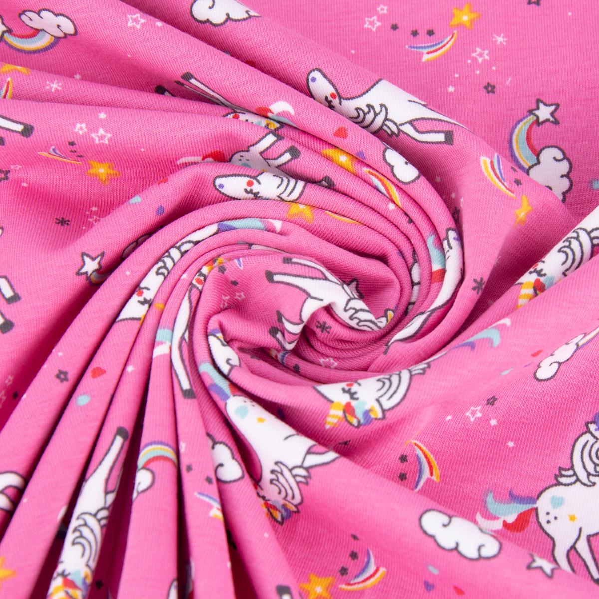 Jersey mit Einhörnern pink
