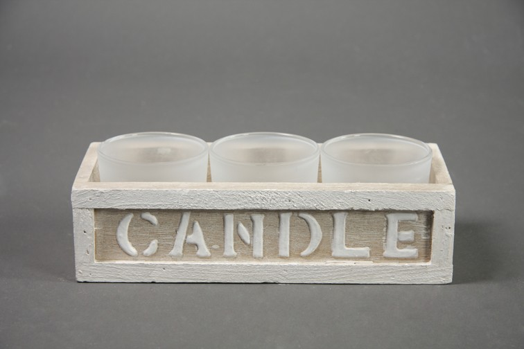 teelichthalter holzbox candle mit 3 teelichtgl sern. Black Bedroom Furniture Sets. Home Design Ideas